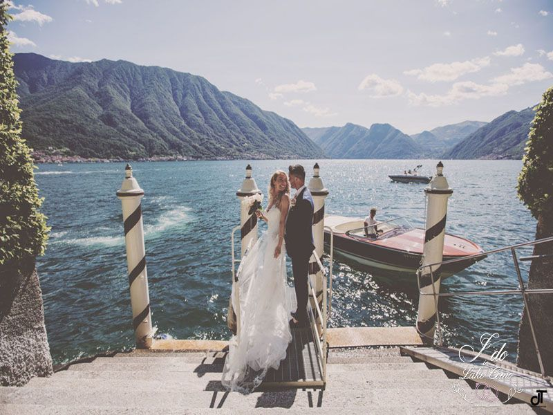 Bridal boat tour in Lake Como | Lake Como Wedding Planner