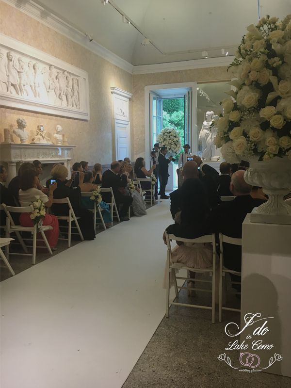 Ceremony at Villa Carlotta Lake Como