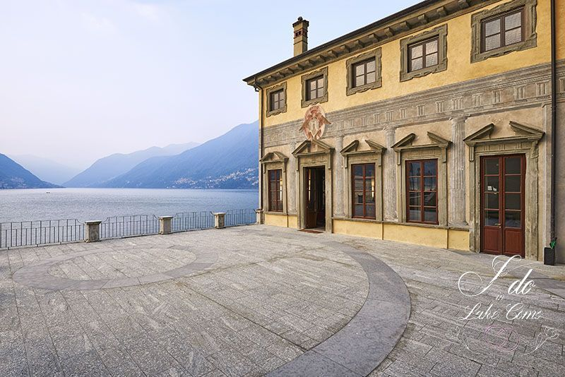 Villa Pliniana's terrace on beautiful Lake Como