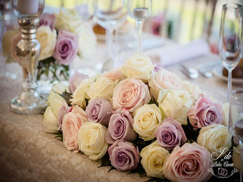 Wedding roses at Lenno Lake Como | Lake Como Wedding Planner