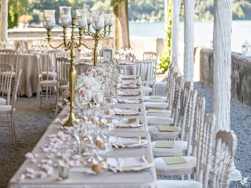 Pink and gold weddings in Lake Como | Lake Como Wedding Planner